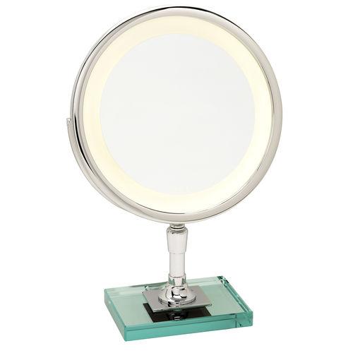 miroir de salle de bain à poser / lumineux / grossissant / contemporain