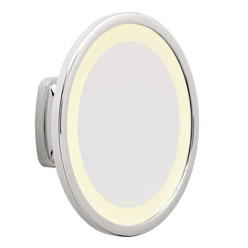 miroir de salle de bain mural / lumineux / grossissant / pivotant