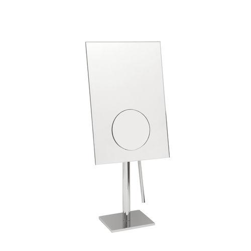 miroir de salle de bain à poser / grossissant / contemporain / rectangulaire
