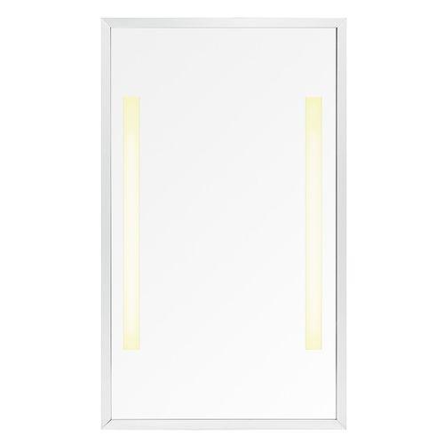 miroir de salle de bain mural / lumineux / contemporain / rectangulaire
