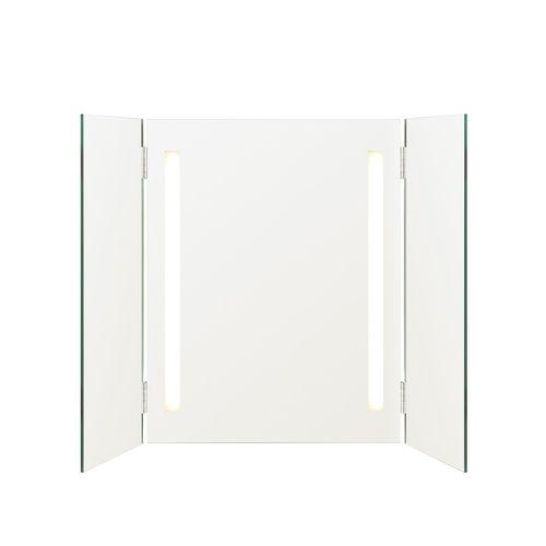 miroir de salle de bain mural / double face / lumineux / contemporain