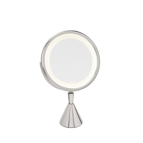 miroir de salle de bain à poser / psyché / lumineux / grossissant