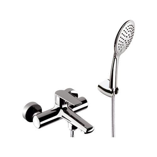 mitigeur de douche / pour baignoire / mural / en laiton chromé