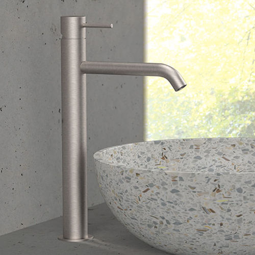 mitigeur pour vasque / en acier inoxydable / 1 trou