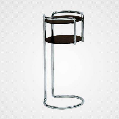 table d'appoint contemporaine / en acier chromé / en stratifié / avec piètement en métal chromé