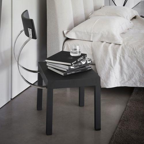 chaise design minimaliste / en acier inoxydable / noire