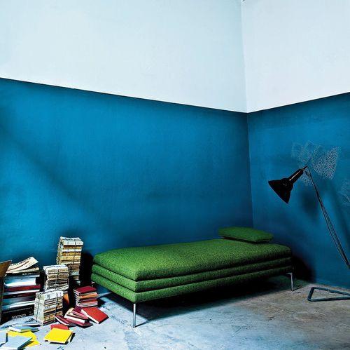 lit de jour contemporain / en tissu / en cuir / de salon