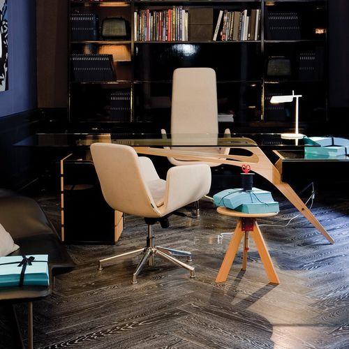 chaise de bureau contemporaine / à roulettes / piètement étoile / avec accoudoirs