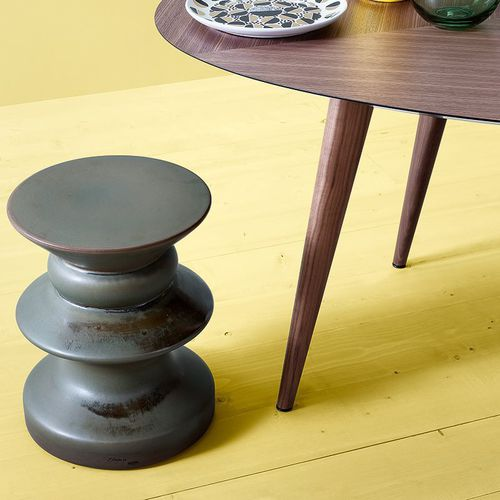 table d'appoint design original / en porcelaine / ronde / de jardin