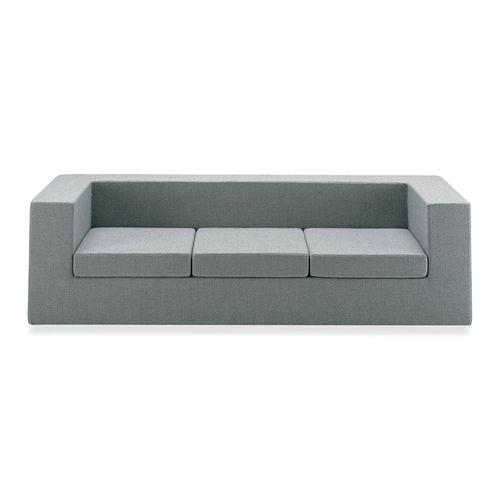 canapé design minimaliste / en tissu / en cuir / biplace
