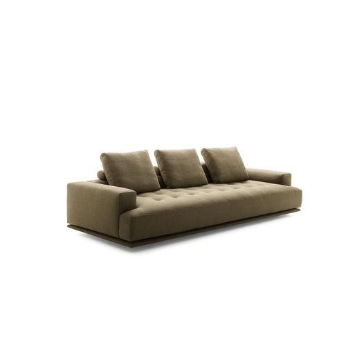 canapé modulable / contemporain / en tissu / en cuir