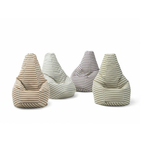 fauteuil poire design original / en tissu / en cuir / avec revêtement amovible
