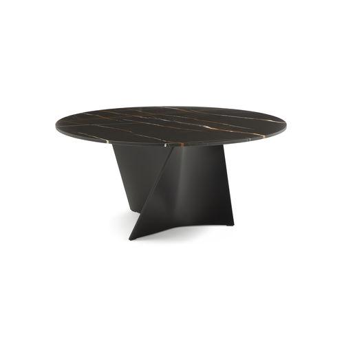 table contemporaine / en marbre / en CristalPlant® / en matériau composite