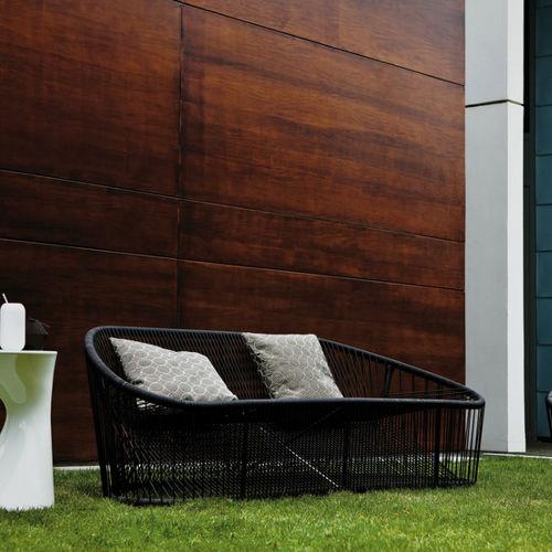 canapé contemporain / d'extérieur / en acier / en PVC