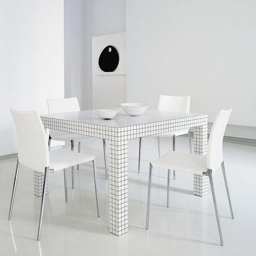 table design Pop / en stratifié / en plastique / rectangulaire