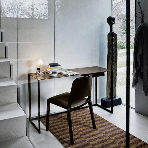 meuble secrétaire contemporain / en acier vernis
