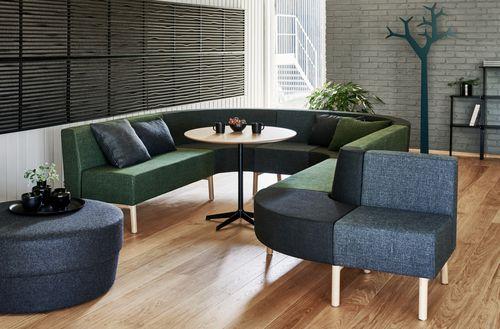 banquette modulable / contemporaine / en tissu / pour espace public