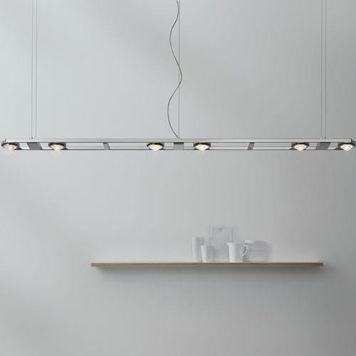 luminaire suspendu / à LED / linéaire / en acier inoxydable