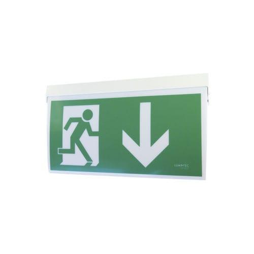 éclairage de secours de plafond / mural / rectangulaire / à LED