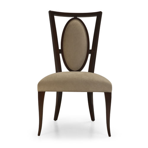 chaise de salle à manger classique / tapissée / piètement standard / en velours