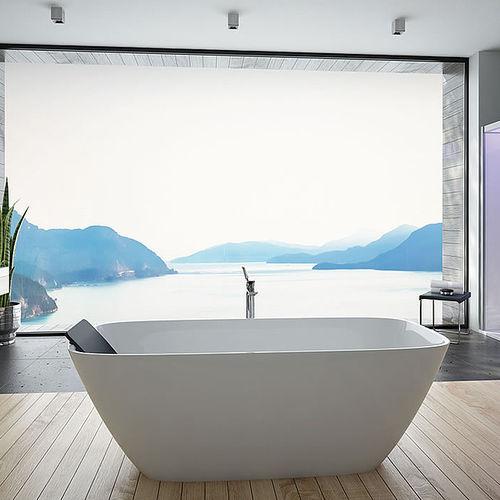 baignoire à poser / ovale / en fonte minérale