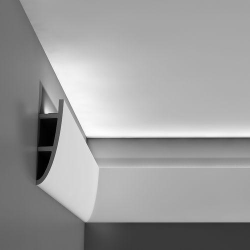 moulure en polyuréthane / cintrée / intérieure / pour éclairage indirect