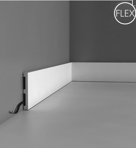 plinthe en polyuréthane / pour cablage électrique