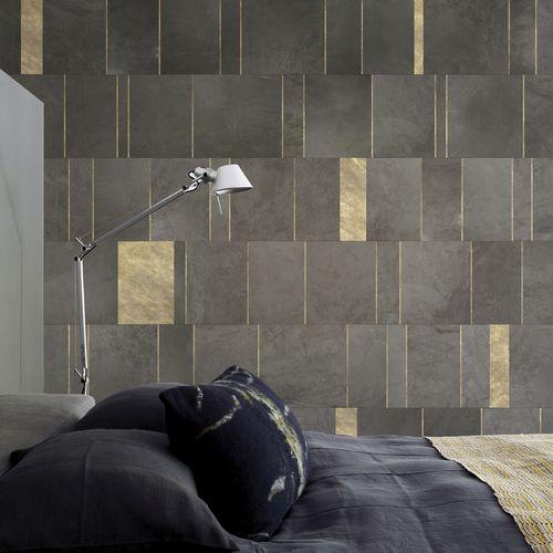 papier peint contemporain / en textile non-tissé / à motif géométrique / aspect carrelage