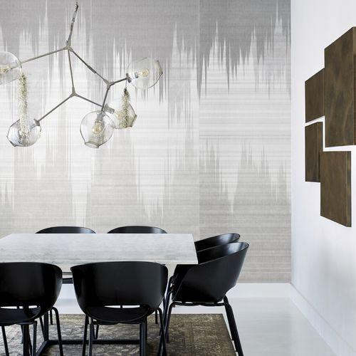papier peint contemporain / en textile non-tissé / motif abstrait / aspect tissu