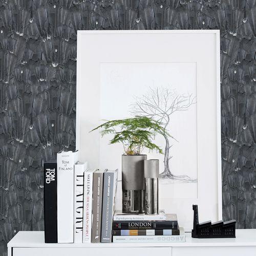 papier peint contemporain / en textile non-tissé / à motif nature / aspect tissu