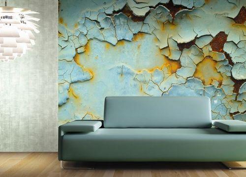 papier peint contemporain / à motif / vert / non tissé