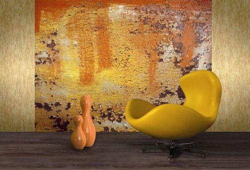 papier peint contemporain / à motif / orange / imprimé