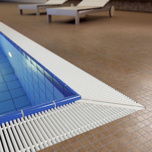 grille de débordement en plastique / pour piscine