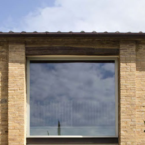 baie vitrée en bois / à quadruple vitrage / à coupure thermique / acoustique