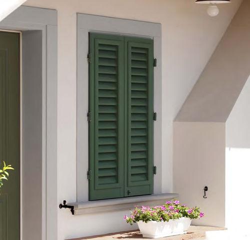 volet battant / à lames / en aluminium / pour fenêtre