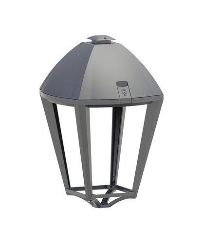 lampadaire urbain / classique / en fonte d'aluminium / en verre