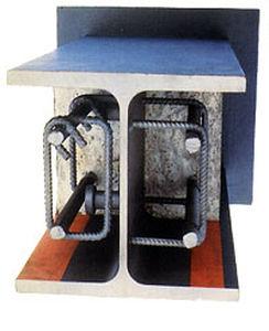 poutre mixte / en acier / en béton préfabriqué / rectangulaire