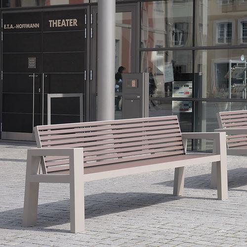 banc public / contemporain / en aluminium / en inox