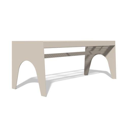 table de pique-nique contemporaine / en acier inoxydable / rectangulaire / pour espace public