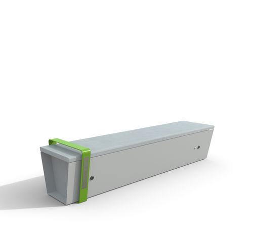 banc connecté / public / contemporain / en bois
