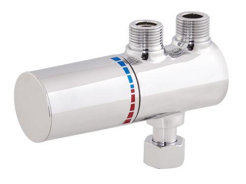 mitigeur pour vasque / mural / en laiton / thermostatique