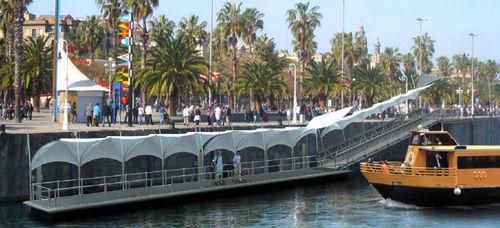 quai flottant en aluminium