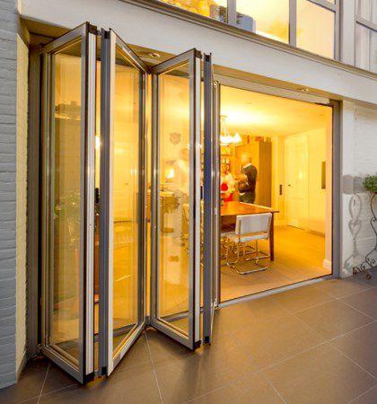 Baie vitrée accordéon - SL60E - VELFAC - en aluminium / à double vitrage / à triple vitrage