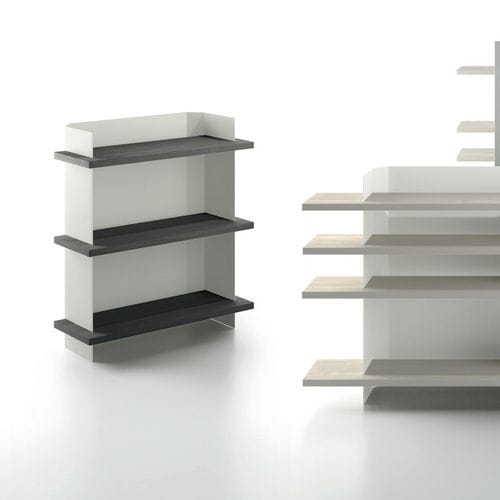 étagère contemporaine / contreplaqué / en métal / pour bureau