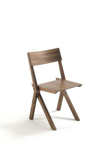 chaise contemporaine / pliante / empilable / en bois massif