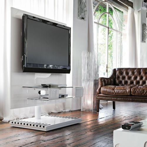 support TV sur pied contemporain