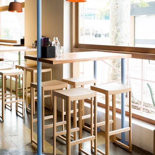 tabouret de bar contemporain / en chêne / en hêtre / pour restaurant