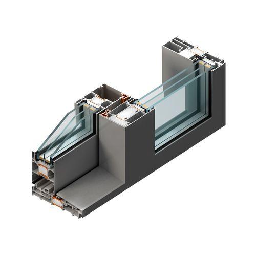 baie vitrée coulissante / en aluminium / à triple vitrage / acoustique