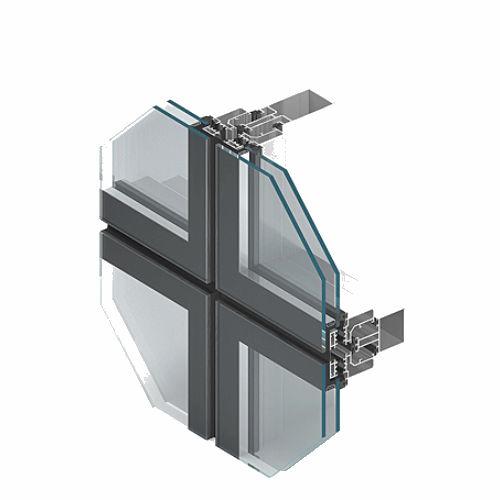 fenêtre à pivot / en aluminium / à double vitrage