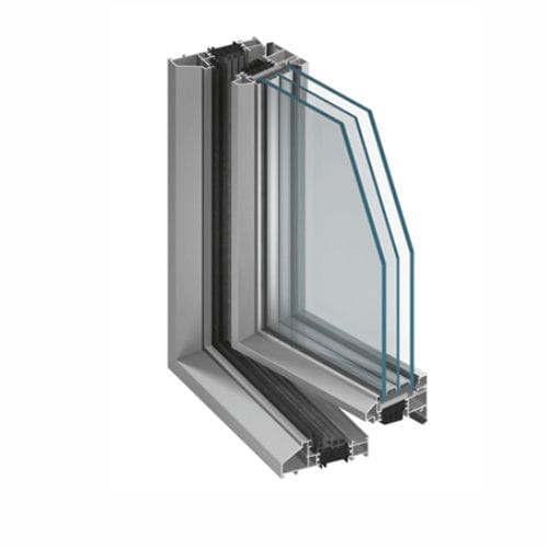 profilé pour fenêtre en aluminium / en acier / à coupure thermique / de sécurité
